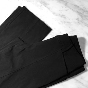 Black Express Strech Fitted Simi Flare Dress Pants
